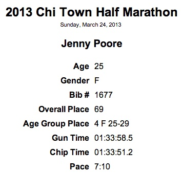 130324 Chi Town Half Results