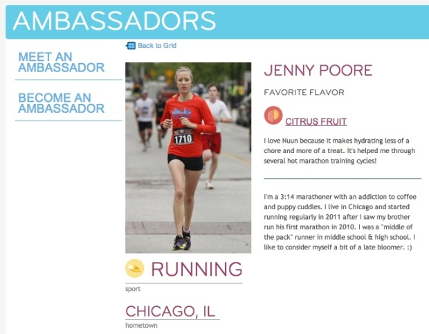 Nuun Ambassador Jenny Poore